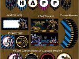 Diy Transformer Birthday Invitations Transformers Birthday Party Pack Diy · Splashbox