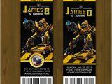 Diy Transformer Birthday Invitations Transformers Bumblebee Ticket Birthday Invite · Splashbox