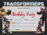 Diy Transformer Birthday Invitations Transformers Megatron Kids Children Birthday Party