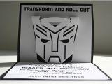 Diy Transformer Birthday Invitations Transformers Pop Up Invitations