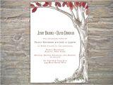 Diy Tree Wedding Invitations Autumn Rustic Tree Invitation Printable Diy for Fall