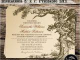 Diy Tree Wedding Invitations Vintage Old Oak Tree Diy Wedding Invitations 5 X 7