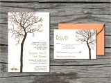 Diy Tree Wedding Invitations Wedding Invitation Diy Invite and Rsvp Heart Tree