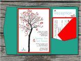 Diy Tree Wedding Invitations Wedding Invitation Diy Pocketfold Heart Tree Printable
