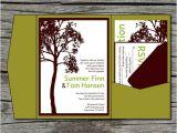 Diy Tree Wedding Invitations Wedding Invitation Diy Pocketfold Tall Tree Printable