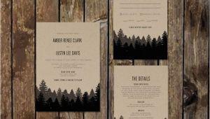 Diy Woodsy Wedding Invitations Diy Printable Woodsy Wedding Invitations with Rsvp