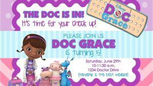 Doc Mcstuffins Party Invites Doc Mcstuffins Birthday Party Invitation