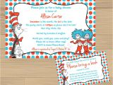 Doctor Seuss Baby Shower Invitations Custom Made Dr Suess Baby Shower Invitation and Free Insert