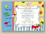 Doctor Seuss Baby Shower Invitations Dr Seuss Baby Shower Invitation E Fish Two Fish Boy or Girl