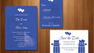 Doctor who Wedding Invitation Template Doctor who Wedding Invitation Invitation Templates