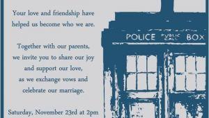 Doctor who Wedding Invites Doctor who Wedding Invitation