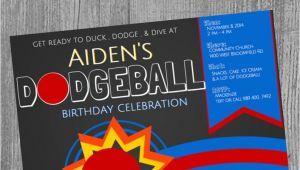 Dodgeball Birthday Party Invitations Dodgeball Birthday Party Invitations Dodgeball theme Boy