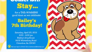 Dog Party Invitation Template Puppy Party Invitation Puppy Birthday Invitation Printable