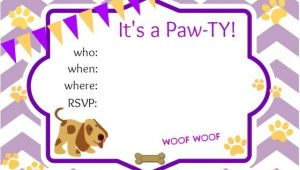 Dog Party Invitations Template Puppy Party Ideas About A Mom