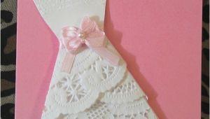 Doily Dress Bridal Shower Invitations Bridal Shower Wedding Invite Dress Doily by