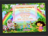 Dora Customized Birthday Invitations Custom Dora the Explorer Birthday Party Invitations Diy