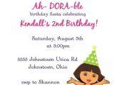 Dora Customized Birthday Invitations Dora Birthday Invitation