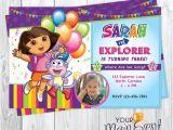 Dora Customized Birthday Invitations Dora the Explorer Invitation Personalized Dora Birthday