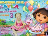 Dora Customized Birthday Invitations Dora the Explorer Personalized Birthday Invitation