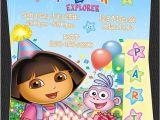 Dora Customized Birthday Invitations Items Similar to Custom Dora the Explorer Birthday Party