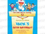 Doraemon Birthday Invitation Template 5 Years Old Birthday Invitations Free Invitation