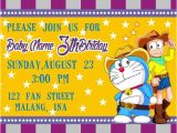 Doraemon Birthday Invitation Template Doraemon Western Birthday Invitations Doraemon by