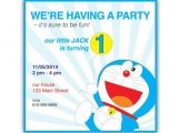Doraemon Birthday Invitation Template Items Similar to Doraemon Personalized Happy Birthday Flat