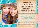 Double Graduation Party Invitations Cowboy Graduation Open House Invitation Western Photo