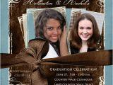 Double Graduation Party Invitations Double Graduation Photo Invitation Open House Sisters