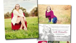 Double Sided Graduation Invitations Double Sided Cardstock Graduation Announcement