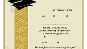 Downloadable Graduation Invitation Templates 40 Free Graduation Invitation Templates Template Lab