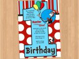 Dr Seuss 1st Birthday Party Invitations Dr Seuss 1st Birthday Invitation Diy Printable