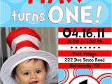 Dr Seuss 1st Birthday Party Invitations Dr Seuss 1st Birthday Invitations A Birthday Cake