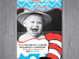 Dr Seuss 1st Birthday Party Invitations Dr Seuss Birthday Invitation First Birthday by Abbyreesedesign
