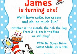 Dr Seuss Birthday Invitation Template Dr Seuss Birthday Invitations Wording Free Invitation