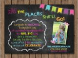Dr Seuss Graduation Invitations Dr Seuss Graduation Invitation Open House Chalkboard