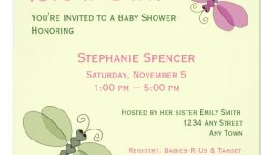 Dragonfly Baby Shower Invitations Dragonflies Baby Shower Invitation