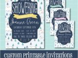 Drop In Baby Shower Invitations Custom Baby Shower Invitation Rain Drop Baby Shower