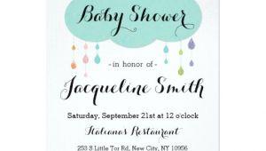 Drop In Baby Shower Invitations Rain Drop Glitter Baby Shower Invitation