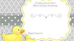Duck Baby Shower Invitation Templates Free Printable Rubber Duck Baby Shower Invitation
