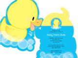 Duck themed Baby Shower Invitations Ducky Duck Shaped Baby Shower Invitations