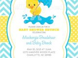 Duck themed Baby Shower Invitations Little Duck Baby Shower Invitation U Print 4 to Choose