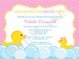 Duck themed Baby Shower Invitations Rubber Duck Baby Shower Invitation Rubber Duckie Invitation