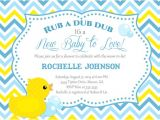 Duck themed Baby Shower Invitations Rubber Duck Baby Shower Invitations