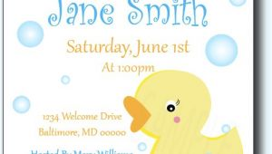 Duck themed Baby Shower Invitations Rubber Ducky Baby Shower Invitations