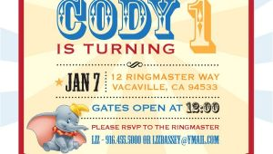 Dumbo Birthday Party Invitations Dumbo Circus Personalized Birthday Invitation Printable