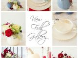 Dusty Blue and Cranberry Wedding Invitations Dusty Blue and Cranberry Fall Tablescape Photo by Lisa