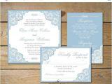 Dusty Blue and Cranberry Wedding Invitations Sale Elegant Lace Wedding Invitation Set by