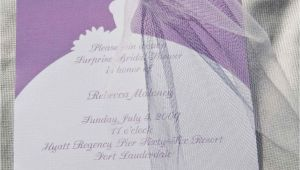 E Invitations Bridal Shower Bridal Shower Invitations Bride Silhouette by