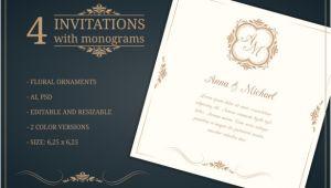 Editable Wedding Invitation Template 45 Wedding Invitation Templates Psd Ai Eps Free